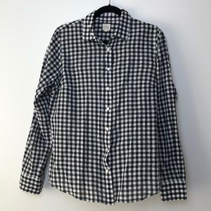 J. Crew Factory l Black/White Check Perfect Shirt
